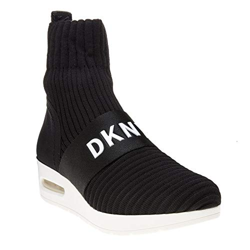 Knit Ribber Noir K3873121 Anna Black Blk On Slip Dkny Wedge xfYAwq