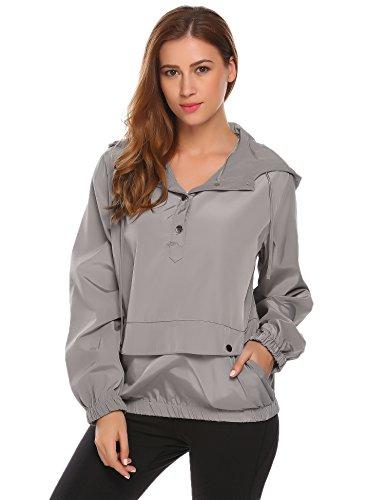 SummerRio Women's Long Sleeve Hoodies Pullover Button Patchwork Sweatshirt Jacket by SummerRio (Image #4)