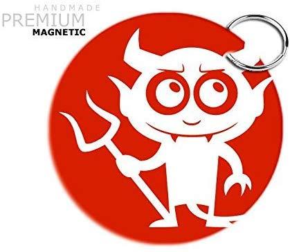 Jasoncarlmorgan Jcm Adorable Diablo Magnético Llavero, Rojo ...