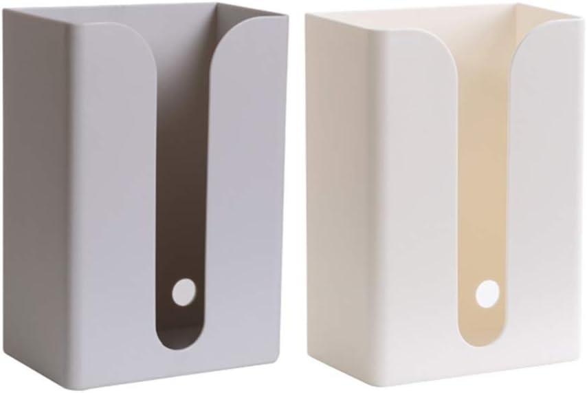 Hemoton Papierhandtuchspender Ohne Bohren Kunststoff Kosmetikt/ücher Spender Toilettenpapierhalter Wandmontiert K/üchenpapier Spender K/üche WC Bad Papierhandtuch Spender Beige