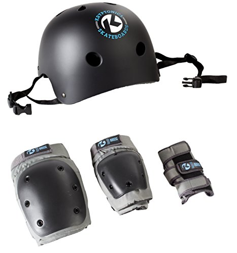 Kryptonics 4-in-1 Pad Set with Helmet, Youth