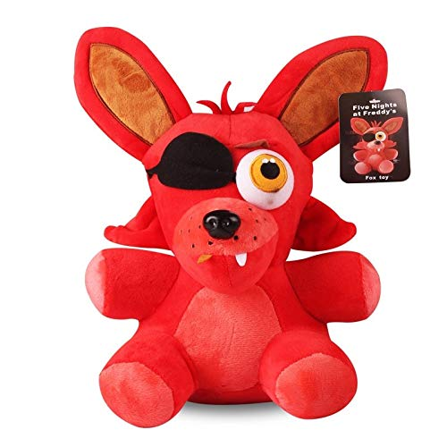 Panamat Movies & TV - Plush Toys 18cm Five Nights at Freddy's 4 Freddy Bear Chica Bonnie Foxy Plush Keychain Pendant Stuffed Animals Toys Gifts 1 PCs ()