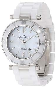 Lucien Piccard Women's LP-10222-WWSA La Tournette White/Silver-Tone Mother of Pearl Dial Ceramic Watch