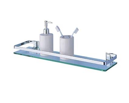 Narrow Glass Shelf Rail Over Sink Unit Bathroom Storage Slim