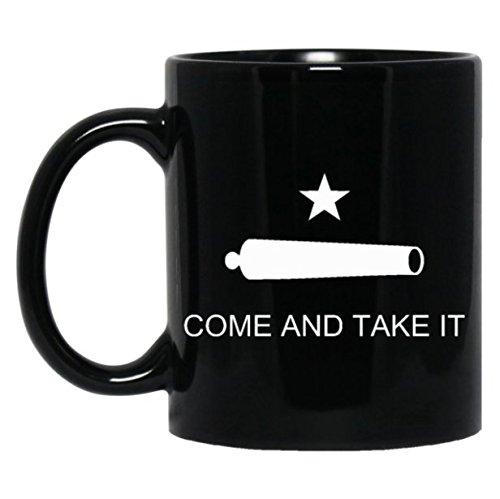 Premium Come and Take It Molon Labe Coffee Or Tea Mug (11 oz., Black)
