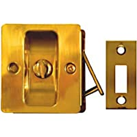 National Hardware V1951 Pocket Door Latch in Solid Brass by National