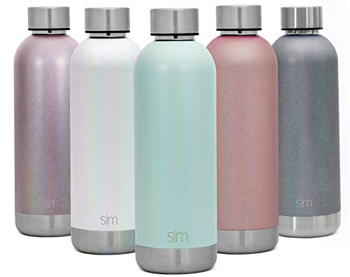 Simple Modern 17oz Bolt Sports Water Bottle - Stainless Steel - Double Wall Vacuum Insulated - Leak Proof Bottle Shimmer: Aqua Aura
