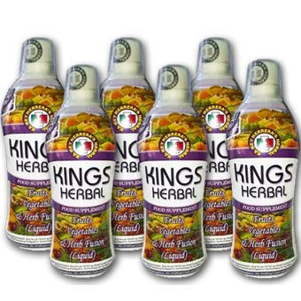 KINGS Herbal Food Supplement 750 ml (Pack of 6-Bottles)