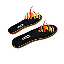 Ueasy Rechargeable Heated Insoles Li-ion Battery Rechargeable Heated Insole Outdoor Keep Feet Warm for Men (One Pair)