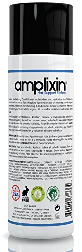 Amplixin Revitalizing Argan Oil Conditioner – Hair Regrowth Deep Conditioning Treatment For Men Women – Sulfate Free Prevention Formula Against Hair Loss, Alopecia Receding Hairline, 8Oz