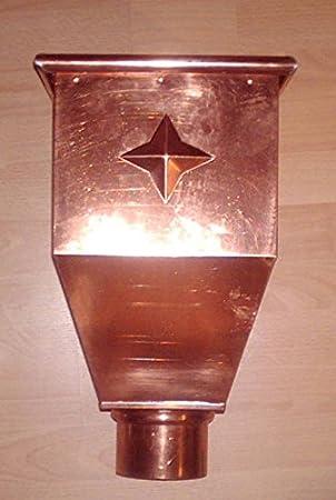 S 80 87 und 100 mm Wasserfangkasten quadratisch lang Kupfer in den Gr/ö/ßen 76