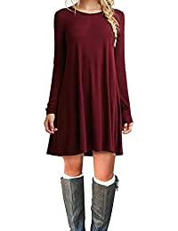 Amazon.com: Red - Casual / Dresses: Clothing, Shoes & Jewelry
