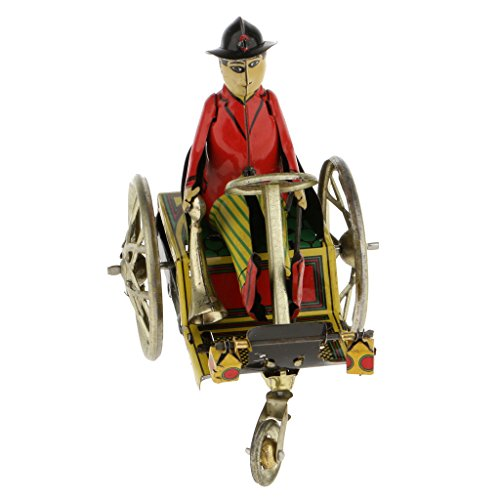 - CUTICATE Vintage Gentleman On Tricycle Retro Clockwork Wind Up Tin Toy, with Perfect Wind-up Key