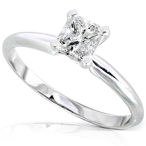 solitaire engagement ring 1 2 carat ctw in 14k