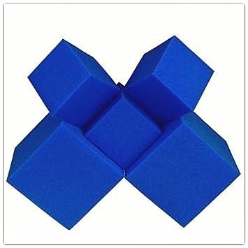 """Espuma de trincheras de bloques/cubos 20 pcs. (azul) 5 """""""