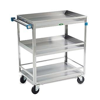 Amazon.com: Medium Duty Carts 3 estantes de acero inoxidable ...