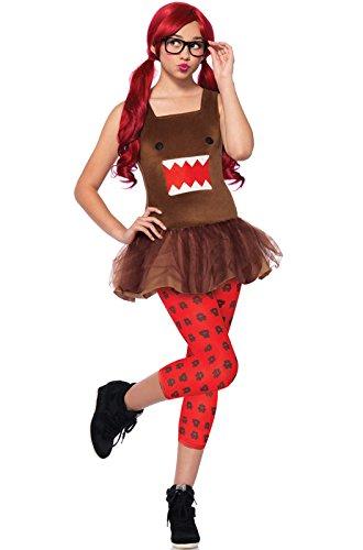 Domo Halloween Costumes (Leg Avenue Women's 3 Piece Nerd Domo Tutu Dress, Brown, Medium/Large)