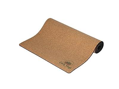 "CorkYogi Natural Environmentally Friendly Eco Cork & Non-Slip Rubber Yoga Mat or Workout 72"" x 24"" - 5mm Extra Cushion - Perfect for Bikram Yoga, Hot Yoga, Pilates & Workouts"