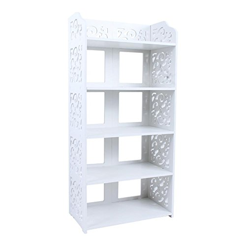 Ejoyous 5 Tier Shoes Rack, White Wood Modern Sp...
