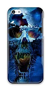 Blue Skull Design for iphone 5C Case