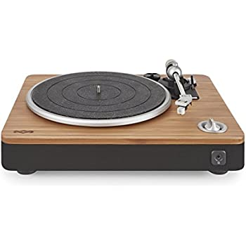 House of Marley Stir It Up Natural Bamboo Turntable with Built-in Pre-Amp (Signature Black)