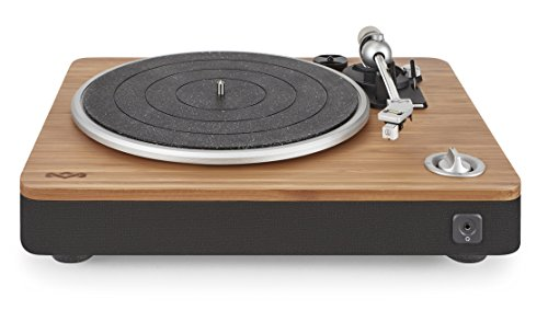 House of Marley, Stir It Up Turntable - 45/33 RPM, USB jack in back for analog to PC recording, Replaceable Cartridge, Bamboo Plinth, EM-JT000-SB Signature Black