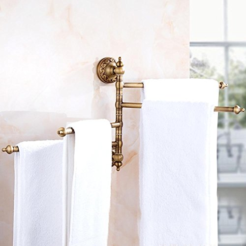 YONG European - style towel rack full of copper towel rack antique rotating towel bar hardware pendant , a well-wreapped