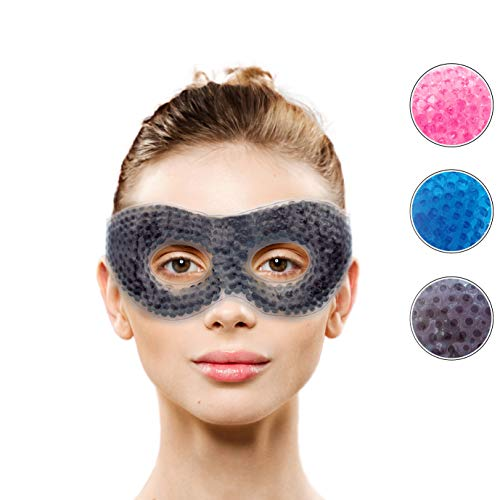 Therapeutic Hot or Cold Medical Eye Mask with Eye Holes| Reusable Compress for Puffy, Swollen, Dry, Itchy Eyes, Dark Circles, Migraines | Face Mask with Ergo Gel Bead Technology by -