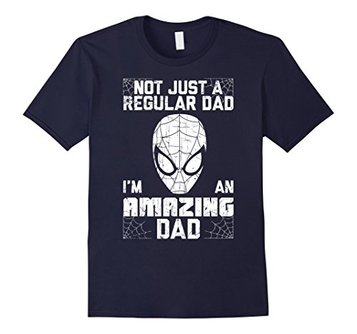 Mens Marvel Spider-Man Father's Day Not Regular Graphic T-Shirt XL (Father's Day Colors)