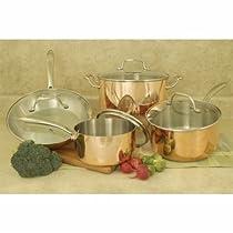 Cookpro 546 1.5 qt.Tri-Ply Copper Cookware Set - 8 Piece