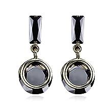 Simples925Silver black CZ earrings/Joker fashion earrings/ earrings