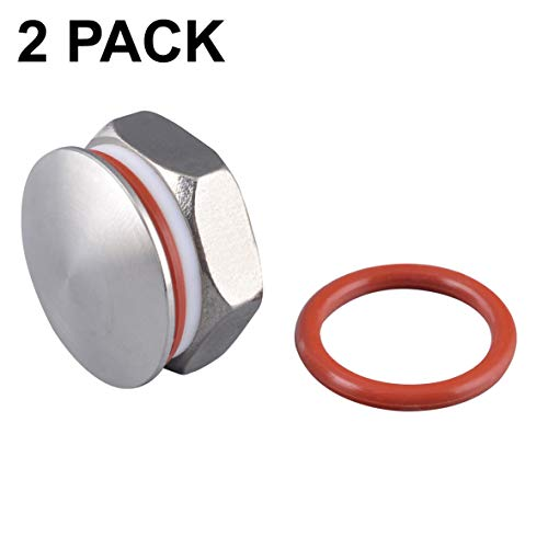 2PACK Kettle Plug 20.8mm compression 304 stainless steel Homebrew Kettle Plug for 20.8mm hole fit 1/2