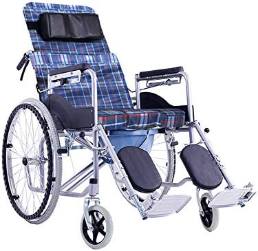 車椅子 自走式車椅子 折りたたみ製鉄 車椅子 折りたたみ車椅子 (Size : Lattice oxford cloth)