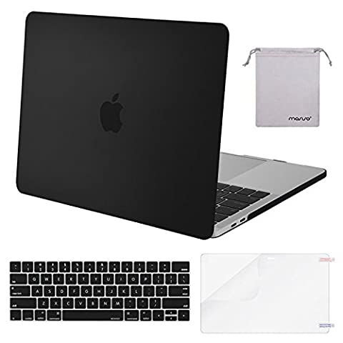 Mosiso MacBook Pro 13 Case 2017 & 2016 Release A1706/A1708, Plastic Hard Case Shell with Keyboard Cover with Screen Protector with Storage Bag for Newest MacBook Pro 13 Inch, (Macbook Pro Rubber Cover 13 Inch)