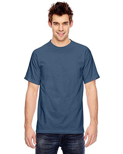 True shirt Mens Hpyeed Navy C1717 dyed Garment Ringspun T A70qfwOq