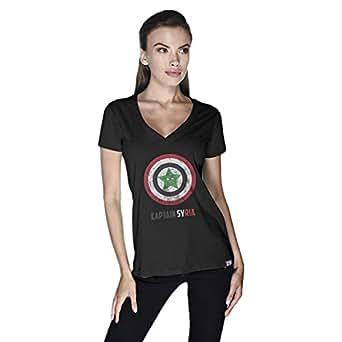 Creo Captain Syria T-Shirt For Women - M, Black