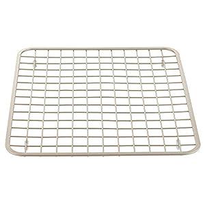 interdesign gia kitchen sink protector grid mat regular satin. Interior Design Ideas. Home Design Ideas