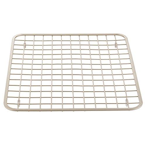 InterDesign Gia Kitchen Sink Protector Grid Mat - Regular, Satin