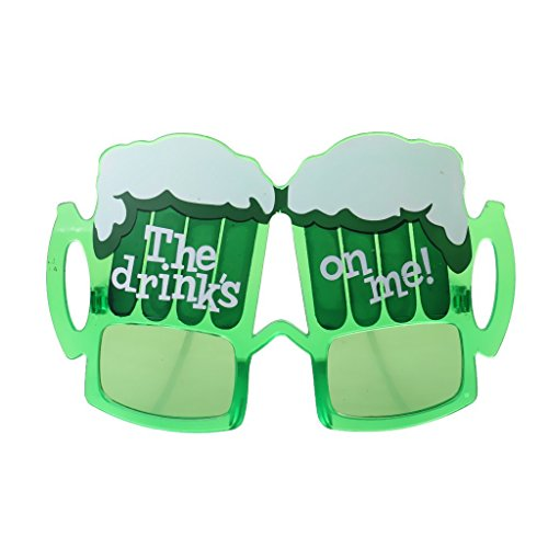 Funny Sunglasses Beer Drinks Cup Glasses Party Props Fancy Dress-Green