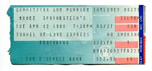 Summit Tunnel - 1988 Bruce Springsteen Ticket 4/12 Houston Summit Tunnel of Love Tour 44543RG