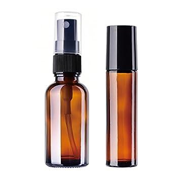 toyfun cristal botellas de rodillo roller rollo en botellas de vidrio para aceites esenciales, aromaterapia