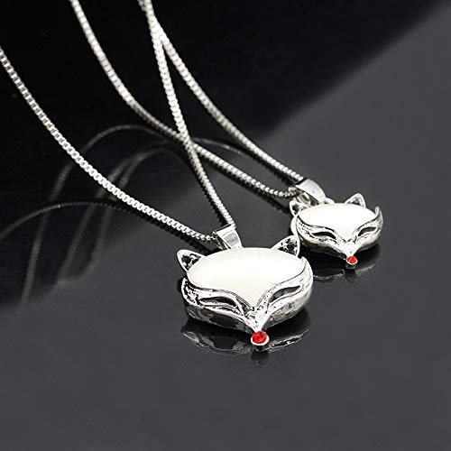 wedding party women's fashion jewelry zircon crystal necklace pendant chain long handmade double perfume bottles sweater (mysterious fox 2378 (23g) ()