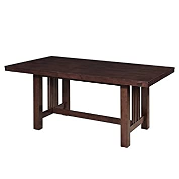 Amazon.com - Pemberly Row Extendable Trestle Wood Dining ...