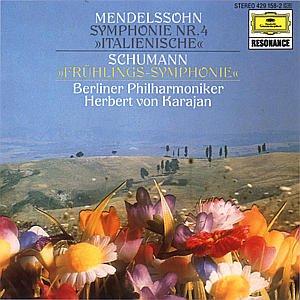 "Mendelssohn, Berlin Philharmonic Orchestra, Schumann, Herbert Von Karajan -  Mendelssohn Symphony No. 4 ""Italian""; Schumann Symphony No. 1 ""Spring"" -  Amazon.com Music"