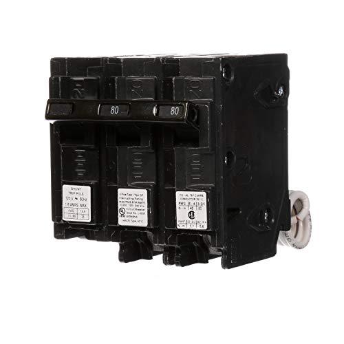 Siemens Q28000S01 120/240-Volt type MP-T 80-Amp Circuit Breaker with 120-Volt Shunt Trip Double pole (Siemens 80 Amp Breaker)