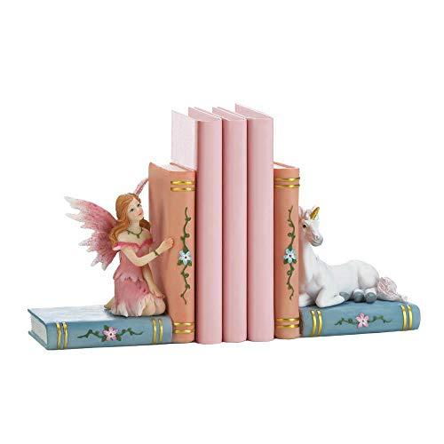 Harpy So Enchanted Fairy Tale Unicorn Bookends - Decorative Useful Storybook Fantasy Decor - Fairy Themed Bookends for Girls Nursery or Bedroom (Decoraciones De Cuartos)