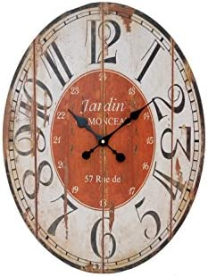 Sukima Decor Jardín Reloj, DM, Rojo, 43x4x58 cm: Amazon.es: Hogar