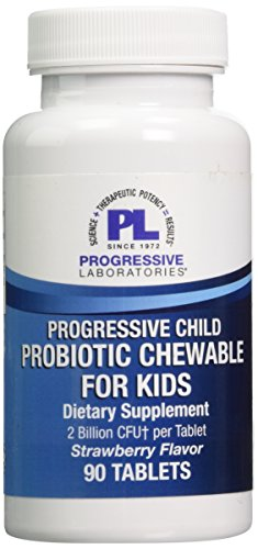 Progressive Labs Child's Probiotic Chewable for Kids Supplement, 90 Count Review