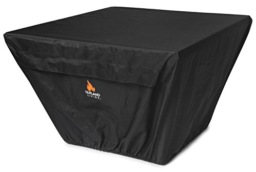 Outland Fire Table UV & Water Resistant Durable Cover for for 36-Inch Square Outland Series 410 Fire Tables, Square 37-Inch