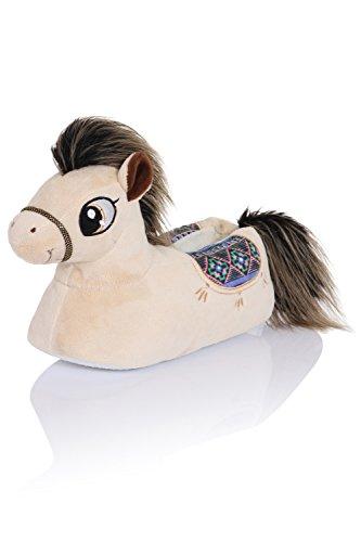 Loungeable Boutique, Mujer Chica Cómodo Novedad Animal Pantuflas Penny Pony